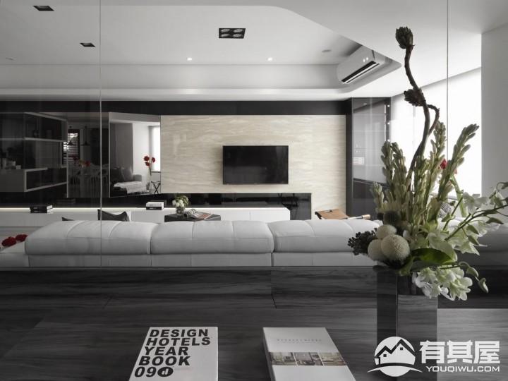 康城一品三室两厅家装现代简约装修设计效果图欣赏
