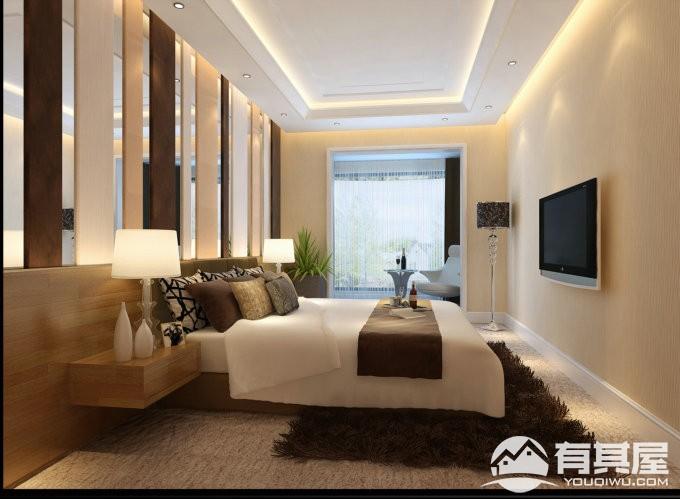 海航城四居室家装现代简约风格设计效果图欣赏