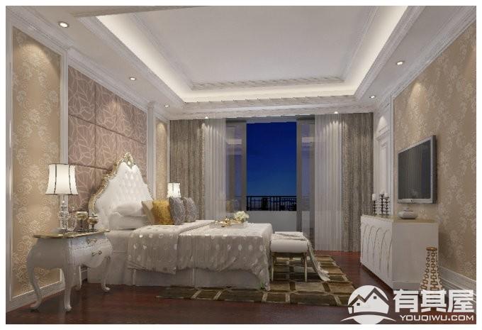 海口湾一号四室两厅简欧风格设计效果图欣赏