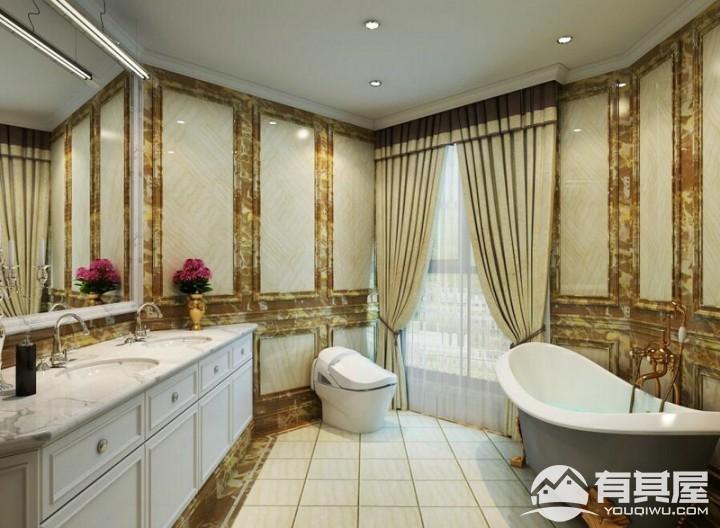 三层自建别墅美式风格豪华装修效果图