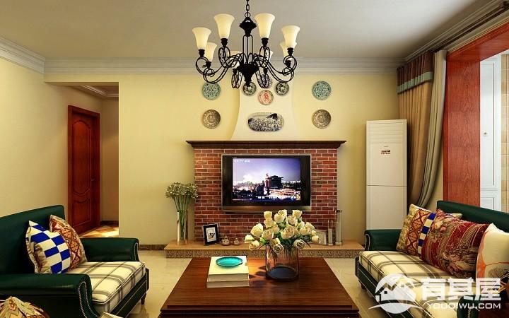 际华水岸美式风格新房装修效果图