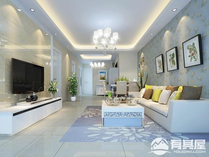 西溪里三室两厅家装地中海风格设计效果图欣赏