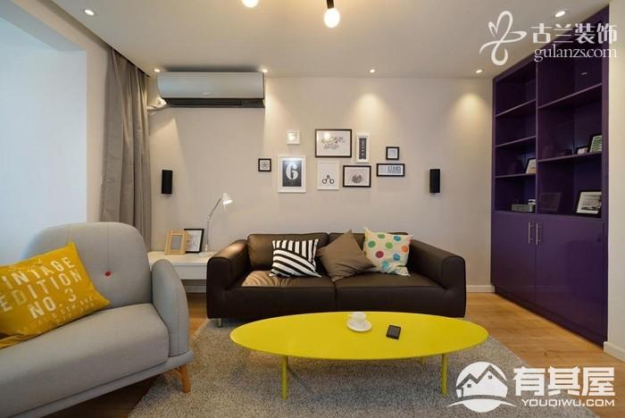 纺织公寓两居室小户型北欧风格设计效果图欣赏