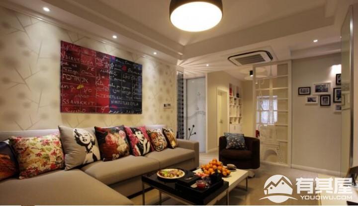 三室两厅家装巴黎混搭风格设计效果图