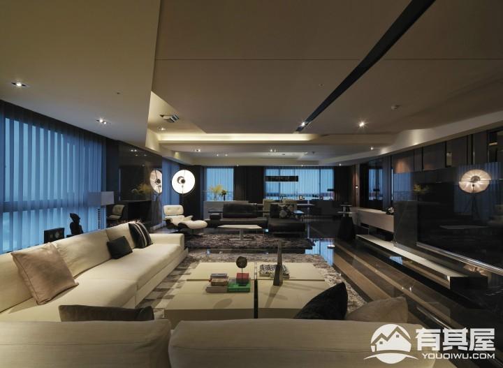 西溪海155平四室两厅现代简约风格设计效果图案例欣赏
