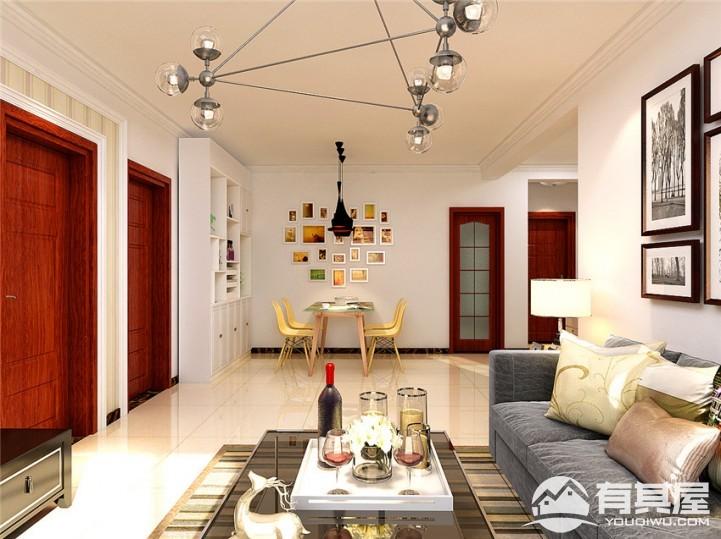 翰林观天下二居室现代装修风格案例