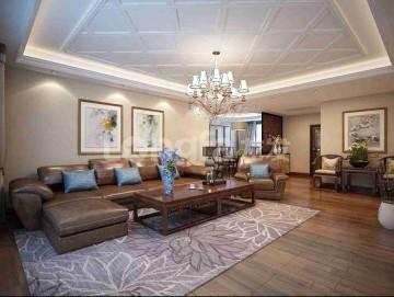 普華淺水灣四居室美式風格裝修設計效果圖案例分享