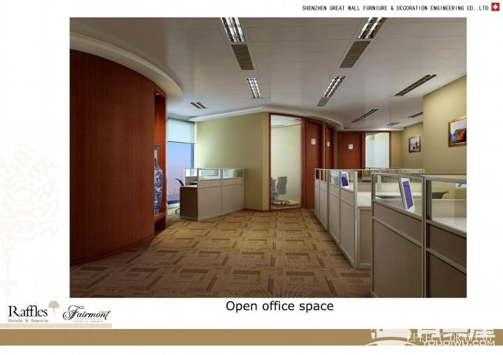 赋安科技大厦办公室现代装修设计效果图欣赏