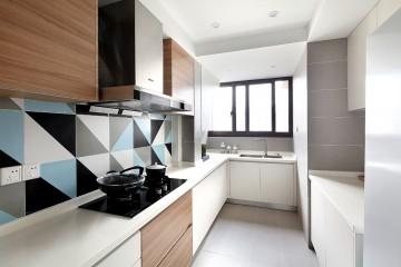 上海静安区控江四村三室两厅现代简约风格设计效果图案例欣赏