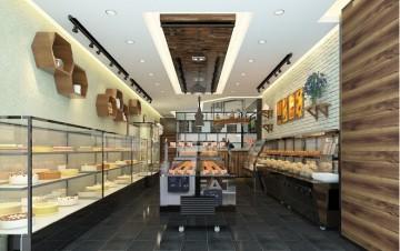 细工坊面包店装修设计效果图