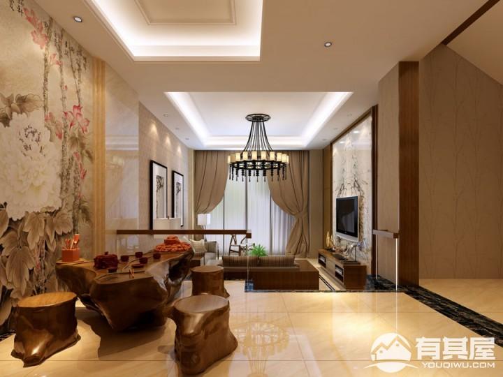 颐和南园别墅新中式装修效果图