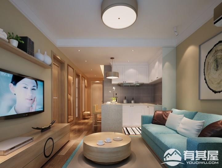 50平小户型老房改造现代风格设计效果图