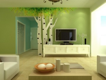 绿色系田园风格室我也试试内设计图