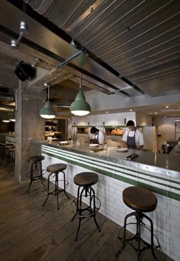 金属质感现代餐厅效果图
