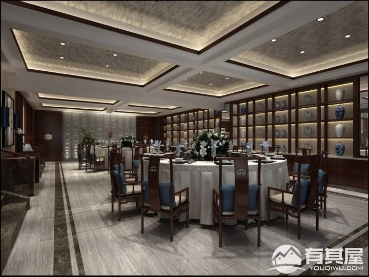 金山河餐厅会所中式装修效果图