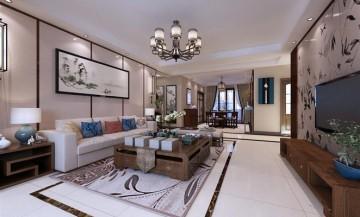 澜调国际中式风格三居装修图片