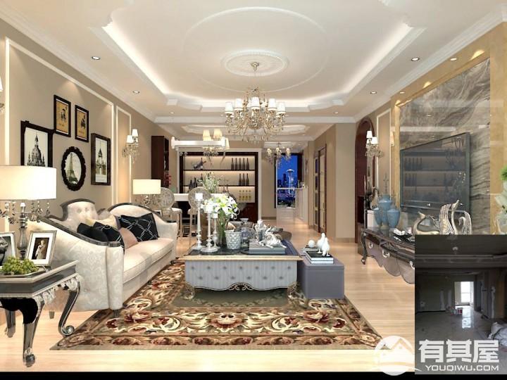 宏泰龙邸欧式风格四居室效果图