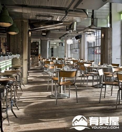 金属系现代餐厅装修实景图