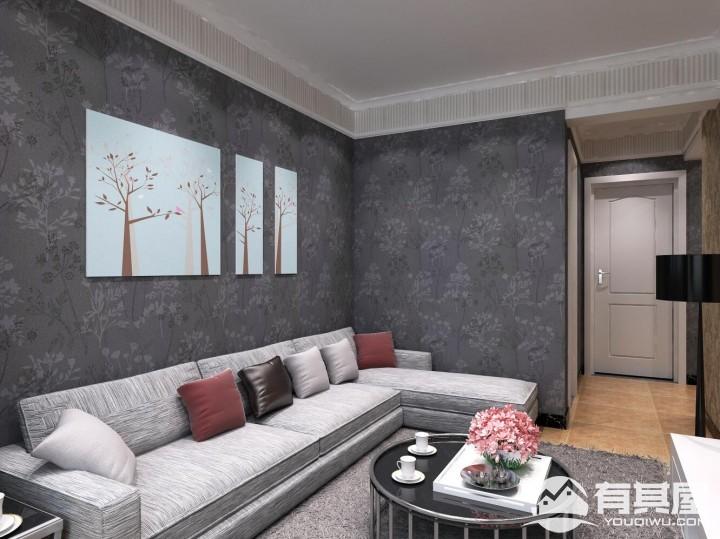 西钢住宅简约风格二居室装修效果图