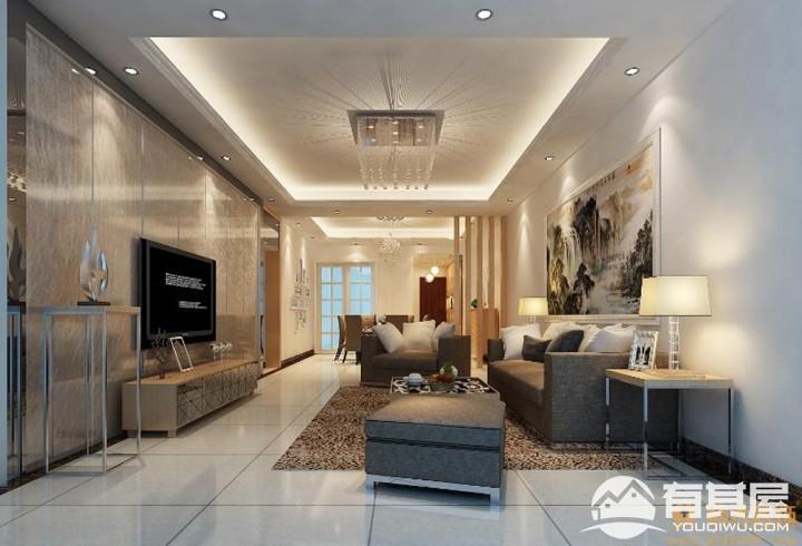 美佳华首誉四居室现代简约风格家装设计效果图
