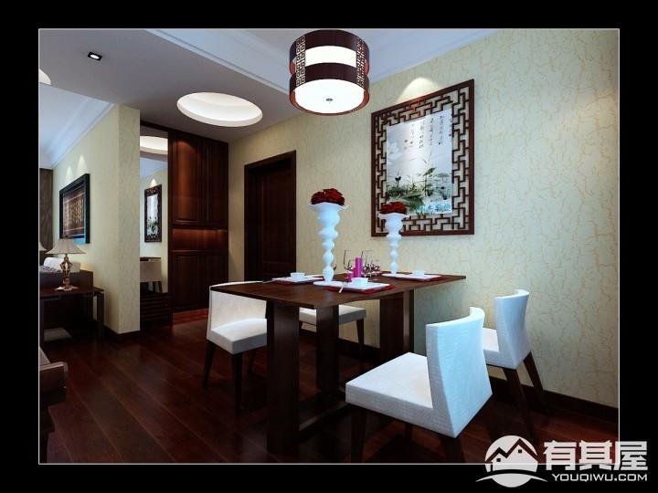 伊水苑新中式三室两厅装修设计