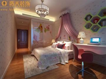 润恒尚园四居室中式风格家装设计效果图