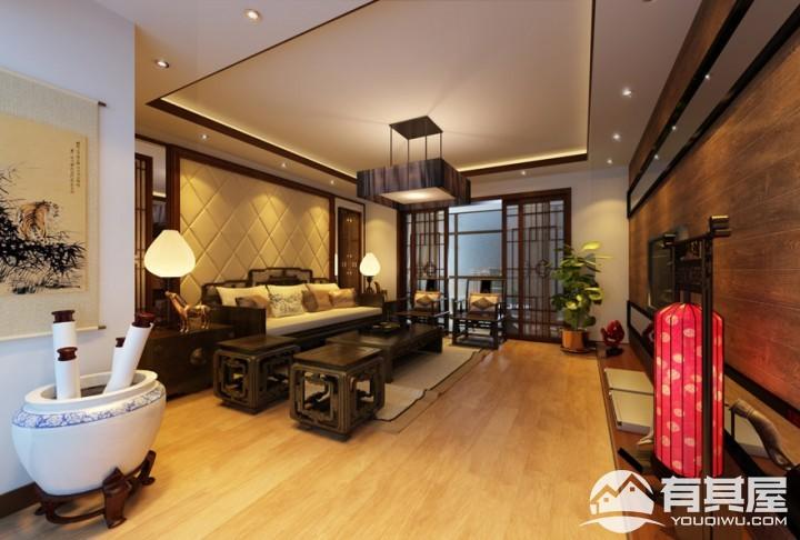 颐林尚都中式风格家装效果图