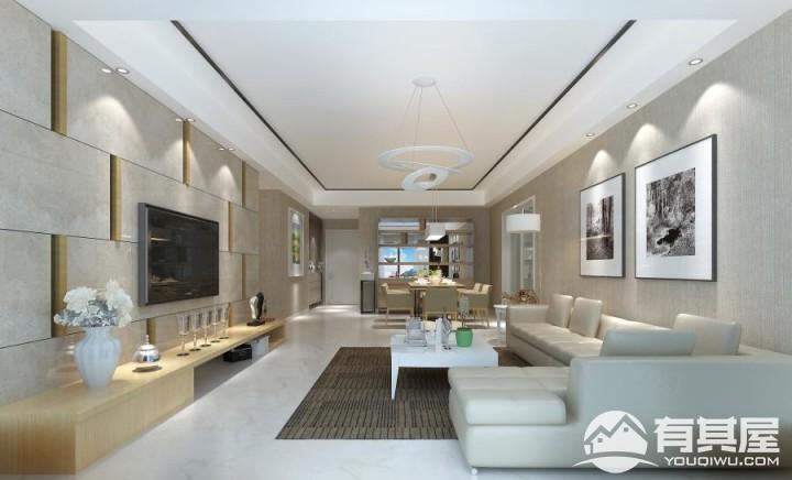 首开领翔国际简约风格二居室装修案例