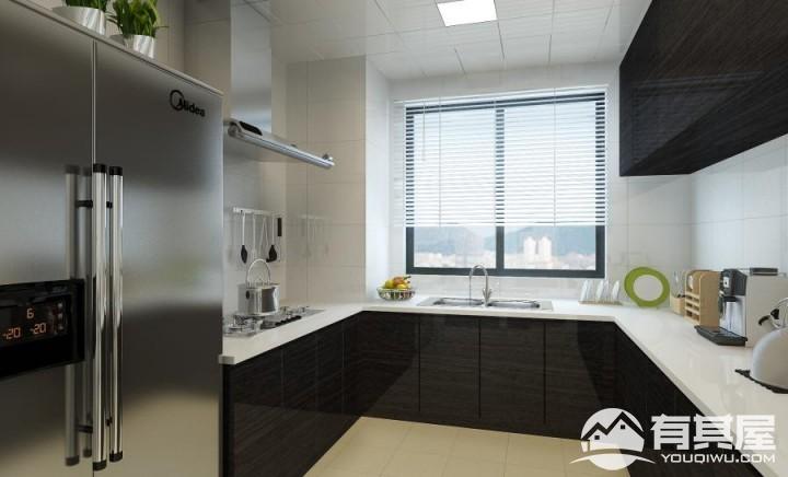 国贸金沙湾现代风格三居室装修效果图