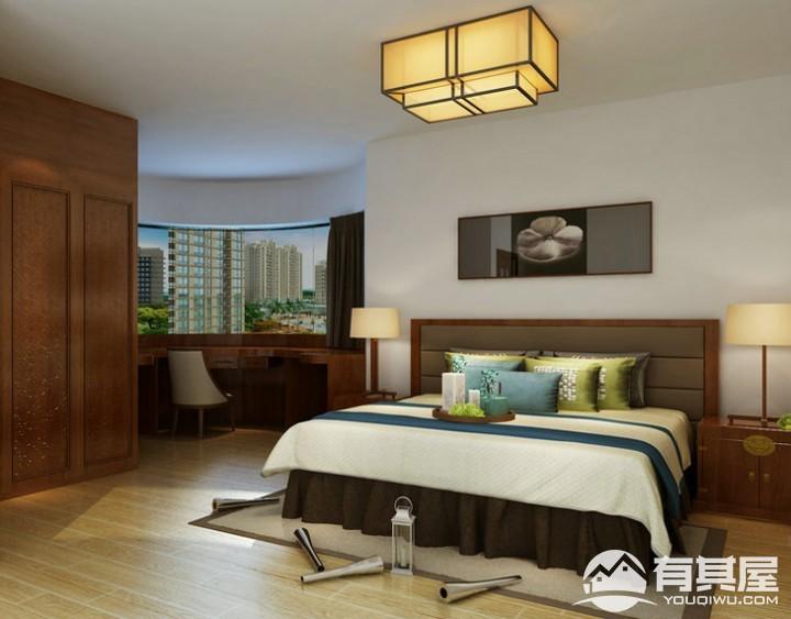 海怡豪园新中式风格三居装修效果图