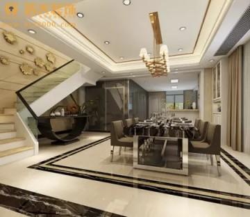 中山新光天地别墅现代风格家装设计效果图