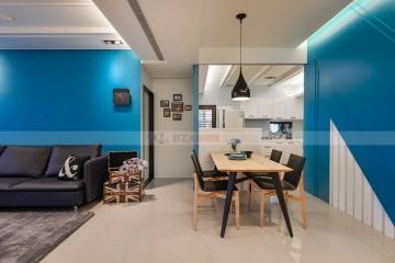 现代风格130平三居装修效果图