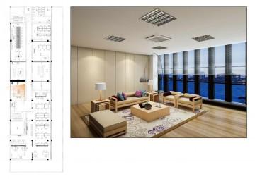 下沙三楼财务办公室装修设计