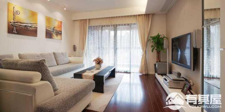 两居室小户型客厅现代简约风格设计效果图