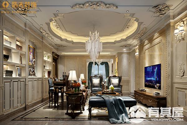 龙华幸福城四居室欧式风格家装设计效果图