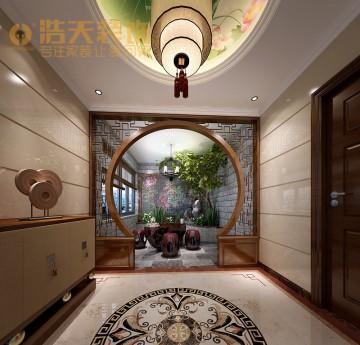 勤城达一期四居室混搭风格家装设计效果图