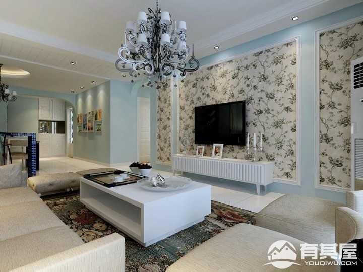 顺驰城现代简约风格两房装修设计图