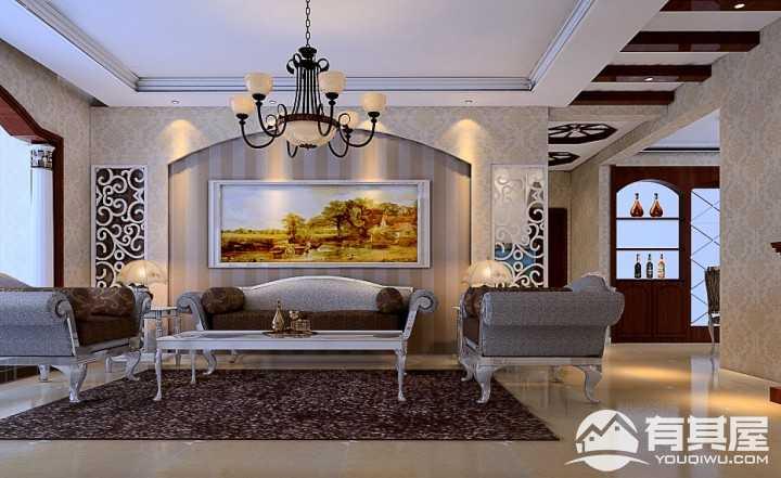 曼哈顿三室两厅简欧装修风格设计