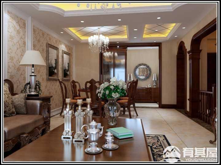 金色年华美式装修风格室内设计