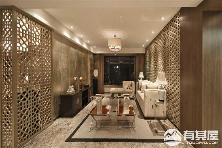 孔雀城·汇景轩中式风格三居设计效果图
