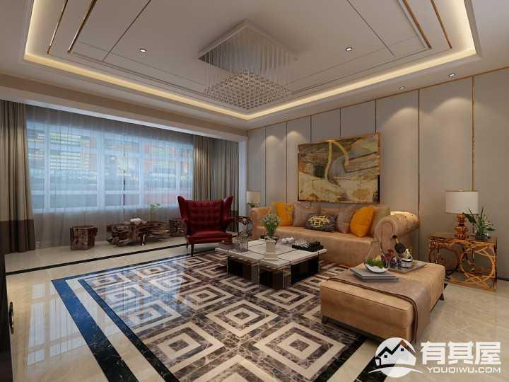 玉龙湾现代简约风格130平米设计
