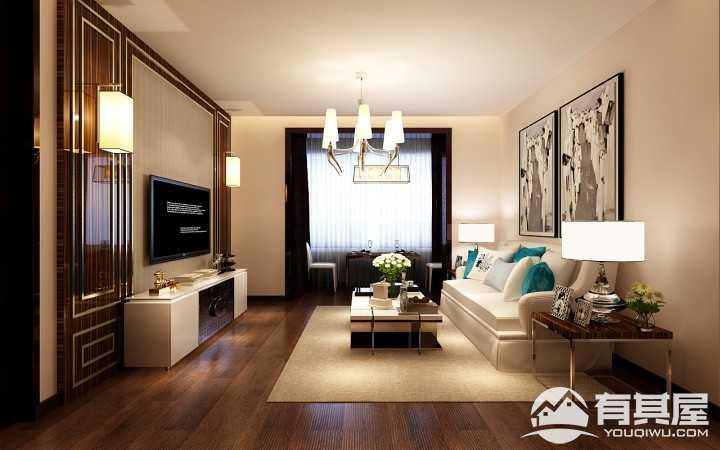 玫瑰湾珑岸港式风格100平两居装修