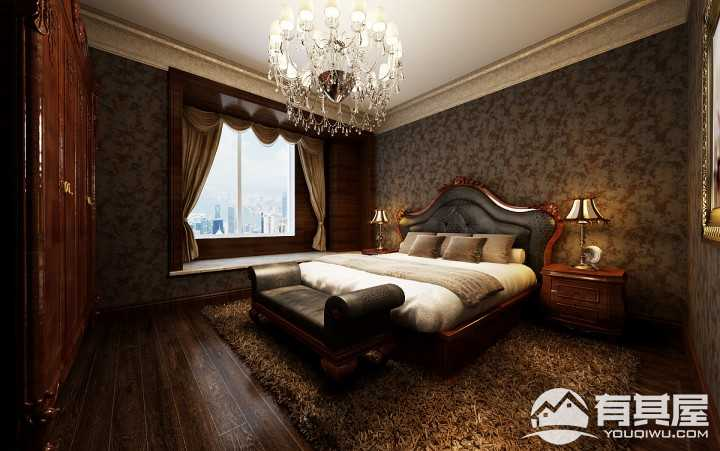 中信城中央公园170平米欧式装修风格