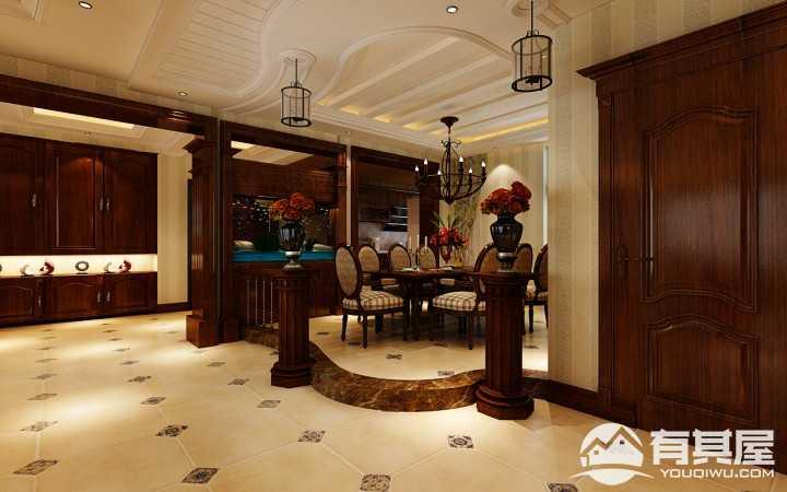 盛和世纪洋房150平米美式装修风格案例