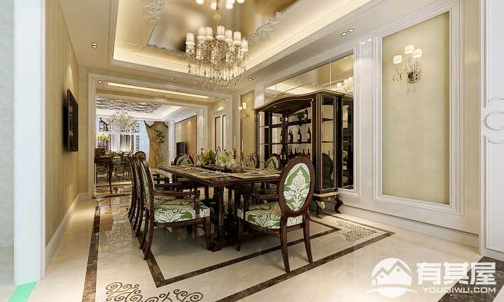 星光耀新古典风格三居室装修效果图