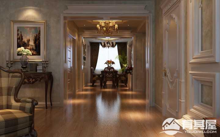 恒盛豪庭欧式风格100平二居室装修图