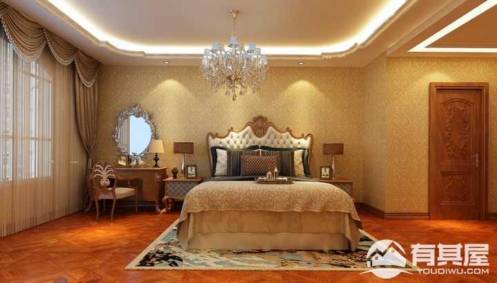 金色江湾美式风格室内设计案例