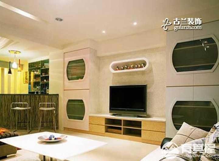 阳光雅居80平米室内创意设计