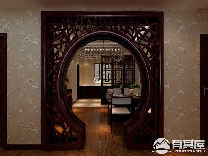 保利百合香湾130平新中式装修风格设计