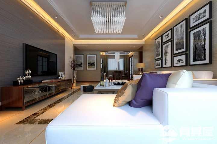 中海和平之门现代风格110平装修设计